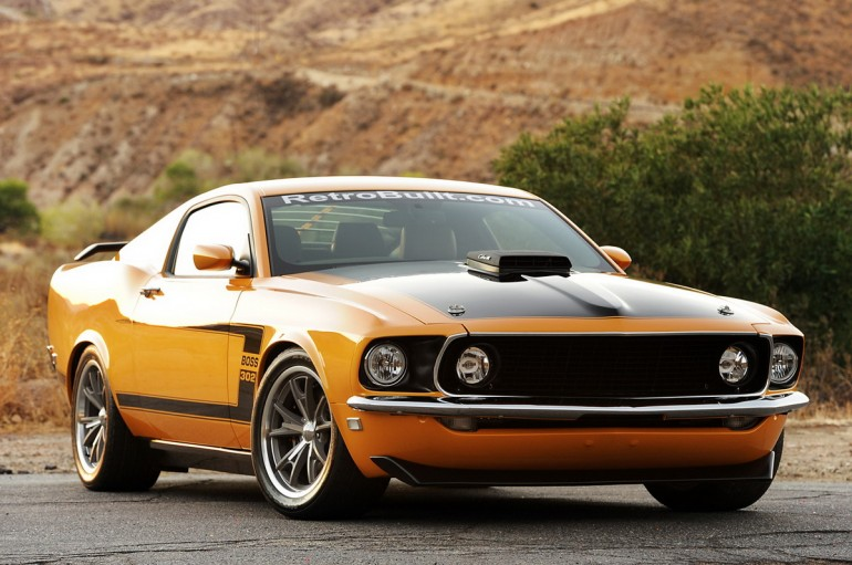 Retro ford mustang