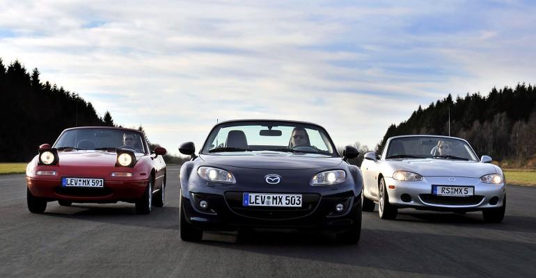 Mazda Mx-5 Miata Tri generacije