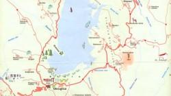 Mapa Vlasinskog jezera